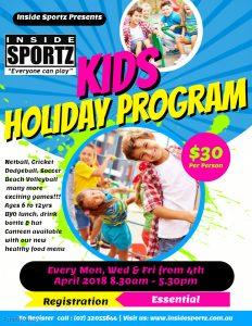 School Holiday Program Inside Sportz